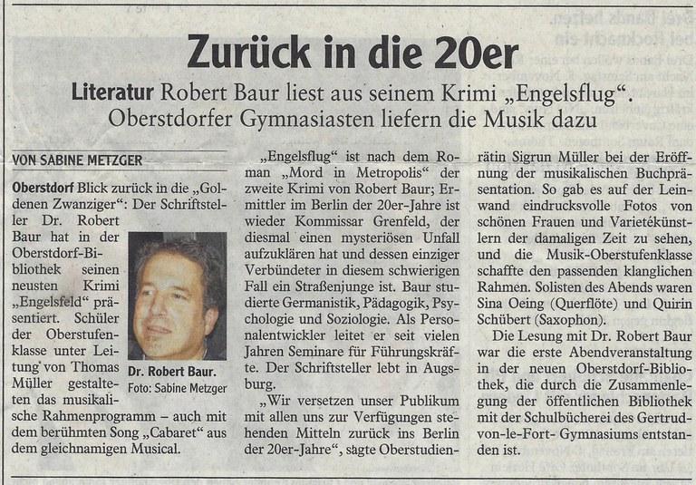 Lesung in Oberstdorf